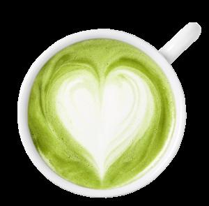macha tea heart